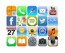 20 iphone ipad Mini 3cms Edible Wafer Cupcake Cup Cake Decoration Topper Images