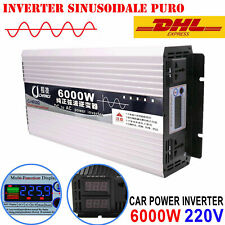 Inverter Onda Sinusoidale Pura 600W-6000W DC 12V/24V/48V to AC 220V Convertitore