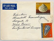 LM74142 Papua New Guinea 1969 to Switzerland airmail good cover used