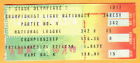 SUPER RARE! 1981 NLCS PLAYOFFS GM #4 TICKET STUB-LA DODGERS @ MONTREAL EXPOS