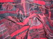 Patchwork in rot, dunkel-rot, schwarz mit Brokat, Satin, Chenille Doppelseiti