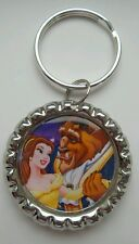 BEAUTY AND THE BEAST / BELLA Inspired Bottle Cap Keychain 2 sides