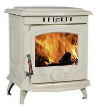 11.5KW Lilyking 657 Cream Enamel Cast Iron Multi Fuel/Wood Burning Boiler Stove