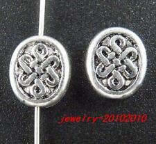 40pcs Tibetan Silver nice Oval Spacers 12x10x4mm 11599