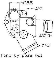 VALVOLA TERMOSTATICA LANCIA DELTA I 831AB0 1.9 Turbo 86