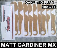 100 Qté Larme Détachables pour Oakley O-Frame Motocross Lunettes