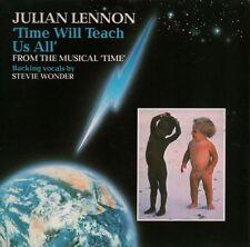 """Julian Lennon(7"""" Vinyl P/S)Time Will Teach Us All-EMI-EMI 5556-UK-1985-Ex/VG+"""