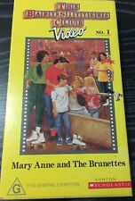 The Baby-Sitters Club Volume 1 - Marry Anne And The Brunettes VHS TAPE (kids)