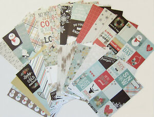 SIMPLE STORIES [WINTER WONDERLAND]  12 x 12 Paper Set  (Set f)  Save 60%