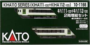 Kato 10-1166 KIHA111-100+KIHA112-100 2-Car Add-On Set N Scale