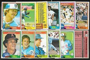 1981 OPC O PEE CHEE TOPPS MLB BASEBALL CARD & TEAM LOT GRAY BACK 1-125 SEE LIST