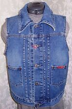 AG Adriano Goldschmied Women's Large Lucy Denim Jean Vest Hard To Find 225+
