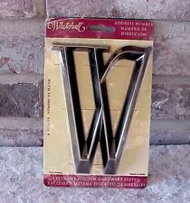 """Whitehall Letter """"W"""" 6"""" Classic Brushed Nickel House Crafts Signs Home Decor New"""