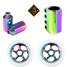HPS STUNT SCOOTER SET 110mm NEO METAL CORE WHEELS ABEC 11 BEARING PEGS SCS CLAMP
