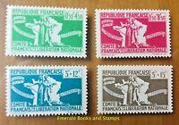 """EBS French Colonies 1943 France Libre - """"Pour l'aide aux combattants"""" - CF 60-63"""