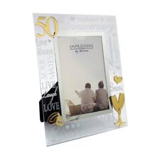 Golden 50th Wedding Anniversary Photo Frame Gift Juliana Collection