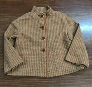 Talbots: Collection Medium brown 4-button Wool /Nylon blazer M