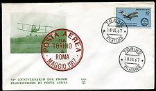 1967 - 50° Anniversario Primo Francobollo di Posta  Aerea - n.1053  - Busta FDC