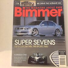 Bimmers BMW Magazine D2's Custom 745i & Sport December 2003 052617nonrh2