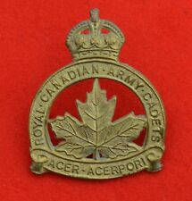 Canadian Army. Royal Canadian Army Cadets Genuine Cap Badge
