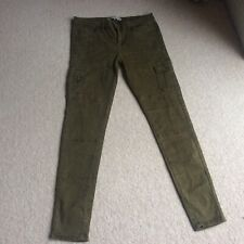 "ckh super skinny khaki hunter green jeans pockets on legs 40 32"" waist 12"