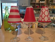 Elegant di Potter Translucent Wine Glass Shades set of 6 Nantucket Vibrant Red