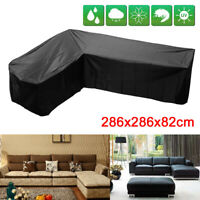 L Shape Garden Rattan Corner Furniture Cover Outdoor Sofa Protect 286x286x82cm