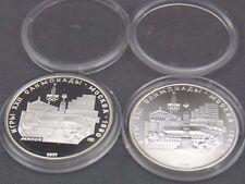 2 pièces de monnaie 5 Roubles 1977 union soviétique PC et PP ARGENT 900 #8