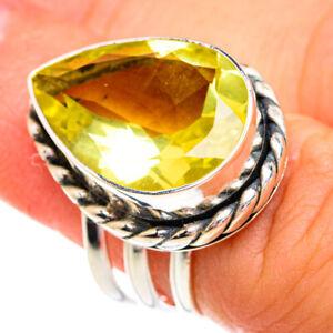 Lemon Quartz 925 Sterling Silver Ring Size 5.75 Ana Co Jewelry R76886F