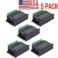 5X CNC Single Axis 4A TB6600 2/4 Phase Hybrid Stepper Motor Drivers Controller