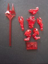 Halo Mega Bloks BRAVO -TRANSLUCENT RED (GUMMY) ELITE GUARD + HALO 2 UNSC MARINE