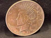1924 90% Silver Peace Dollar (#144)