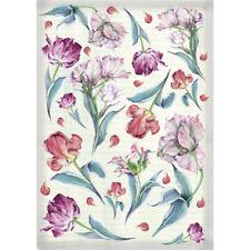 Papier de découpage Fleurs Tulipes DFG252 50x70 cm Decoupage Paper Tulips
