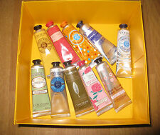 L'Occitane Hand Cream Gift set of 10 with Gift box 30ml each (Value: $120)