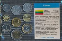 Litauen Stgl./unzirkuliert Kursmünzen 1991-2010 1 Centas bis 5 Litai (9031282