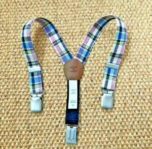 NEW JANIE AND JACK PLAID SUSPENDER 18-24 MONTHS $30