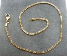 9ct Gold Anklet - Spiga Link * Fully Hallmarked & Boxed * 25cm