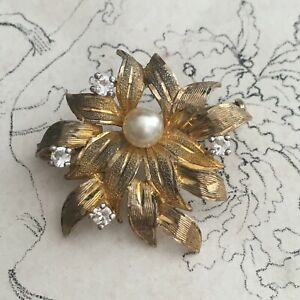 Broche Ancienne 1950 Plaqué Or - Vintage French Brooch