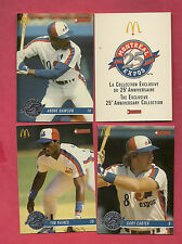 RARE 1993 EXPOS MCDONALDS EXCLUSIVE 25TH ANNIVERSARY COLLECTION 32 CARD SET