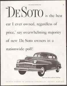 "1947 DeSoto Custom Vintage Print Art Car Advertisement 10.5"" x 13.75"""