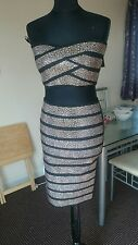 black and gold studded two peice set skirt and bandeau size 10 New Look