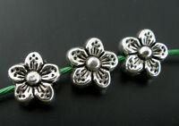 50 Antiksilber Blume Spacer Perlen Beads 9x9mm