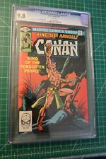 CONAN THE BARBARIAN KING-SIZE ANNUAL #6 (1981) CGC GRADED AT 9.8 WHITE PAGES