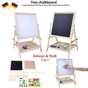 2in1 Kinder Tafel Staffelei Doppelseitige Zeichenbrett Maltafel Holz Magnettafel