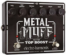 EHX Electro-Harmonix Metal Muff Distortion with Top Boost Guitar Effects Pedal