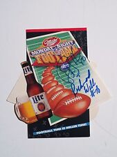 RICHMOND WEBB NFL Miami Dolphin Player Autographed 1991 Football Schedule w/ COA