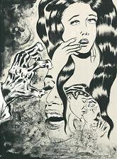 "Dr. Lakra (Jeronimo Lopez Ramirez) - ""Crying"" - Lithografie - handsigniert"