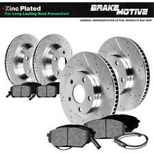 Ceramic Pads C1214 FRONT+REAR KIT Black Hart *DRILLED /& SLOTTED* Brake Rotors