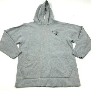 NFL Dallas Cowboys Hoodie Sweater Size Medium M Gray Pullover Long Sleeve Hooded