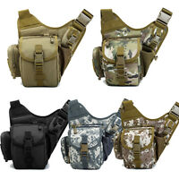 Men's Tactical Travel Cycling Shoulder Bag Messenger Bag Crossbody Chest Bag New